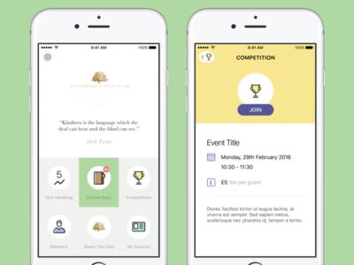 Sunningdale Mobile App club golf app mobile