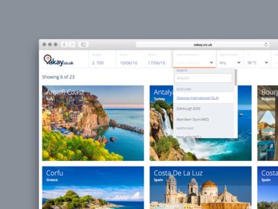 Vakay.co.uk vacation holiday ux interface ui app web