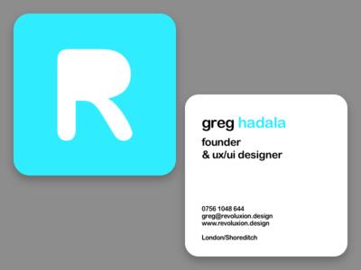 Revoluxion Business Card cyan design sleek card business