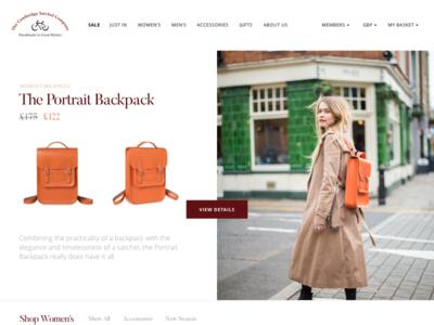 Cambridge Satchel Website online ecommerce leather cambridge london website webdesign