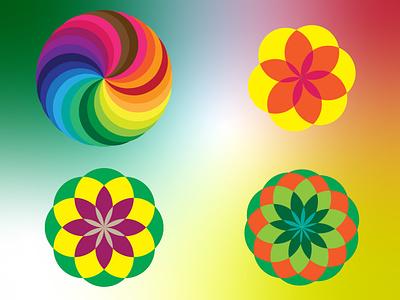 Festive Circle Pattern branding icon vector design