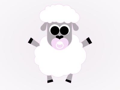 Baby Lamb girl cute soother shower sheep lamb baby