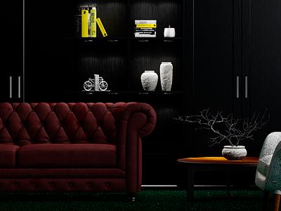 Creative office brand rendering artdirection color creative architecture design