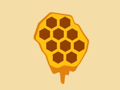 honey flat vector icon illustration