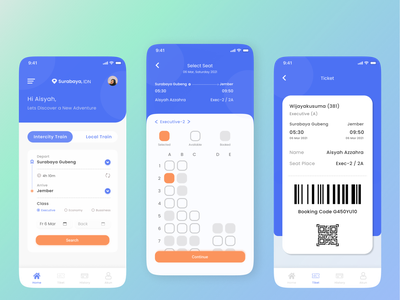 Train Booking App mobile application mobile apps application mobile design app ui design uidesign ui  ux uiux ui dailyui mobile app design mobile design mobile app mobile ui train booking booking train designs design