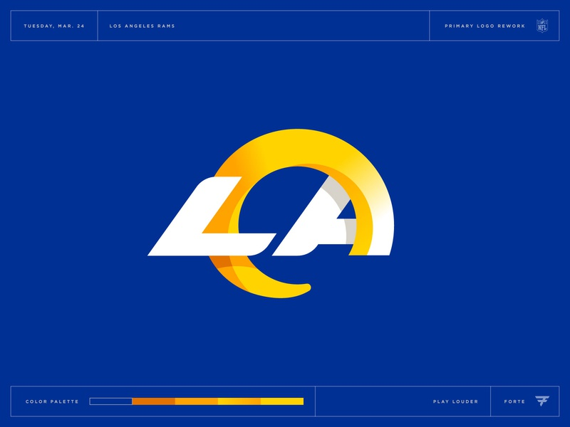 What Could Have Been: Los Angeles Rams horn lettermark ram los angeles nfl football mascot icon illustration design vector branding brand sport logo sports