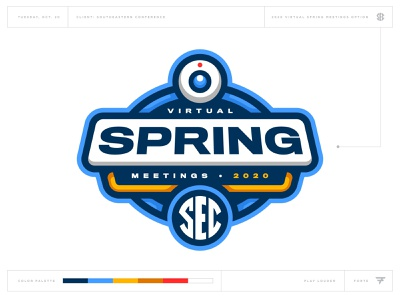 What Could Have Been: SEC Virtual Spring Meetings spring event virtual badge icon illustration design vector branding brand sport logo sports