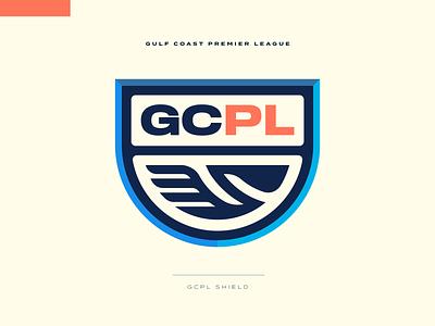 Gulf Coast Premier League Branding football crest bird mississippi alabama louisiana south pelican soccer badge icon illustration design vector branding brand sport logo sports