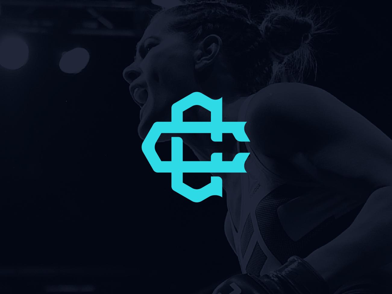 Cortney Casey Brand Identity cc monogram design icon monogram mma ufc vector design brand logo sport sports