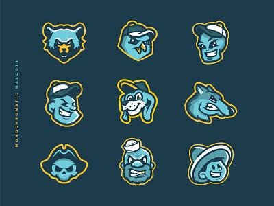 Monochromatic Mascots soccer badge icon las vegas dog alien football mascot hockey illustration design vector milb baseball branding brand sport logo sports