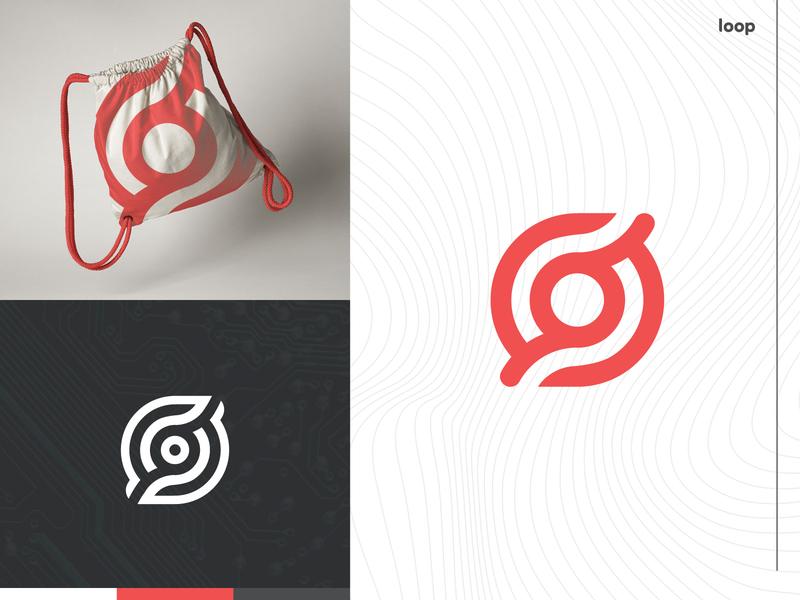 Loop Branding Concept tech circle logo roundel circle web app badge icon illustration design vector branding brand logo