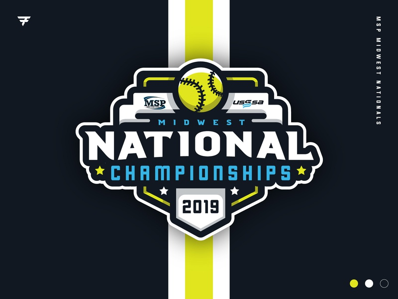 MSP Midwest National Championships event typography badge icon illustration design softball baseball vector branding brand sport logo sports