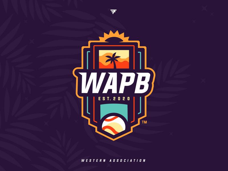 Western Association of Professional Baseball Brand mlb mascot milb badge icon illustration design baseball vector branding brand sport logo sports
