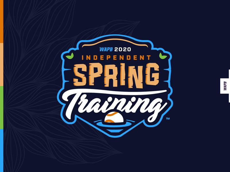 WAPB Spring Training mascot typography milb badge icon illustration design baseball vector branding brand sport logo sports
