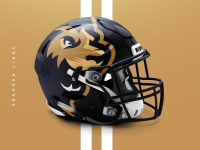Saharan Lions Helmet render mockup lion head lion football mascot illustration design vector branding brand sport logo sports