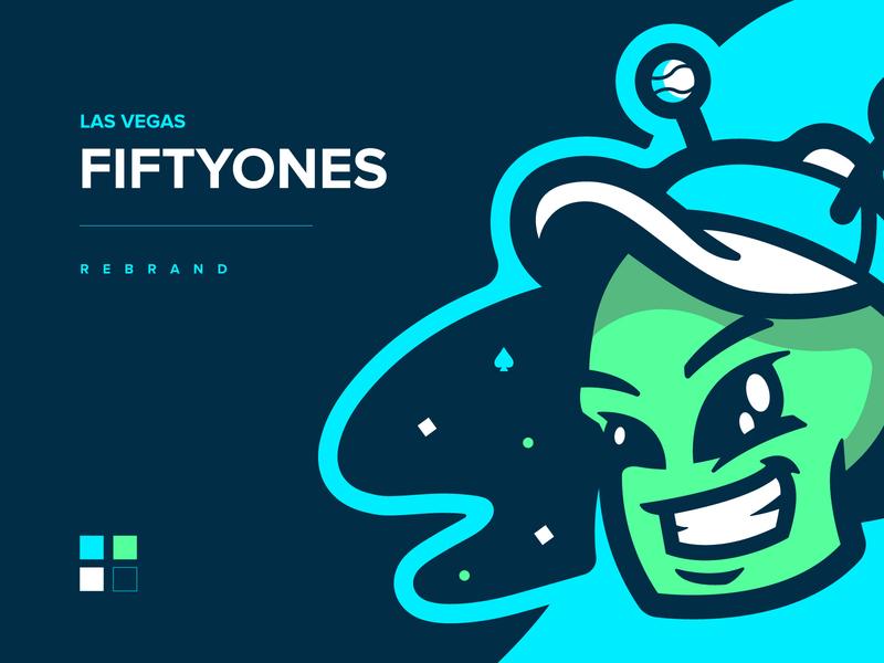 Las Vegas FiftyOnes Archive las vegas alien mascot milb icon baseball illustration design vector branding brand sport logo sports