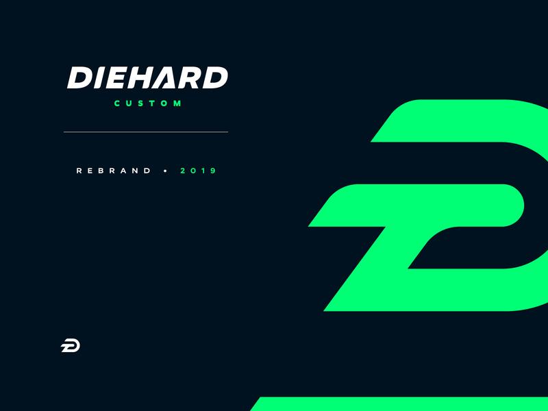 Diehard Custom Rebrand letter lettermark monogram scarves hat rebrand illustration design vector branding brand sport logo sports