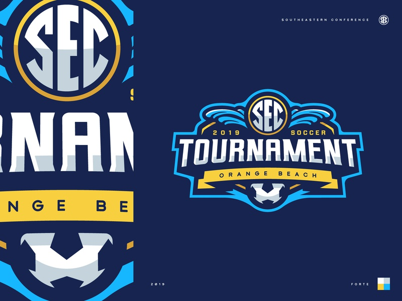 2019 SEC Soccer Tournament tournament football beach soccer typography badge illustration design vector branding brand sport logo sports