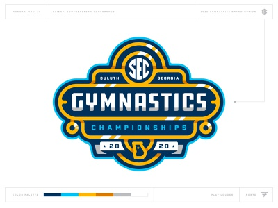 What Could Have Been: SEC Gymnastics atlanta georgia medal gold gym badge icon illustration design vector branding brand sport logo sports