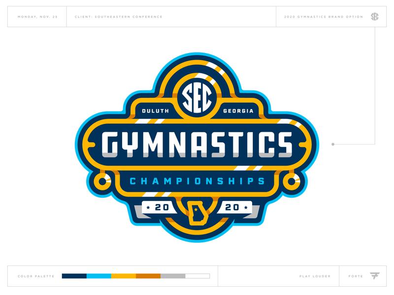 What Could Have Been: SEC Gymnastics atlanta georgia medal gold gym badge icon illustration design vector branding brand sport logo sports