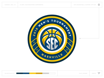 What Could Have Been: SEC Basketball fretboard crest music guitar nashville conference tournament basketball badge icon illustration design vector branding brand sport logo sports
