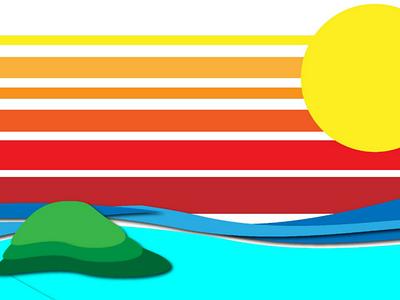 Even its evening water sun