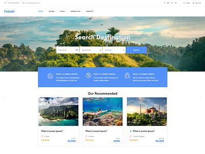 Travel website website minimal branding website design ux ui web development web design web