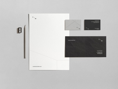 tm branding architecture branding vector typography illustration minimal logo voila