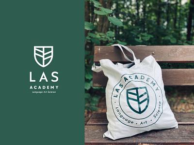 LAS Academy green forest academy las website typography logo branding design web ui voila