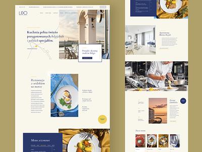 Lido landingpage clean blue yellow food restaurant webdesign ux ui website