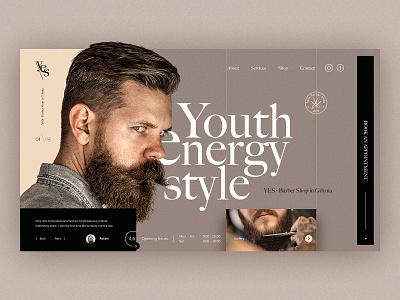 Barber Shop Webdesign hair cut hair interface website landingpage voila ux ui design web design cut barber