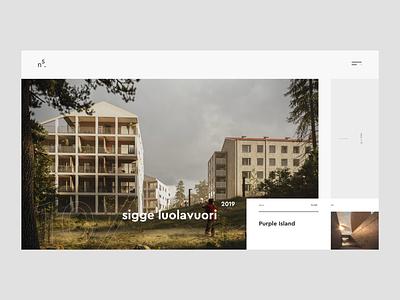 ns. homepage web ux fullscreen flat desktop webdesign ui minimalism design website 3d architecture
