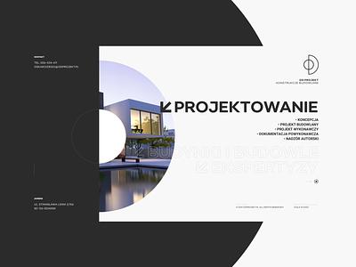 OD _ homepage grey dark desktop architecture simple web design website minimal ux ui web