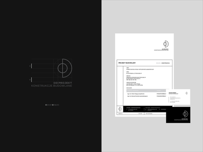 OD _ brand typo brand identity typography typy design businesscard branding brand logo dark grey