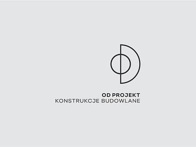 OD _ brand minimalist logo architect architecture typography branding brand logo grey dark typo