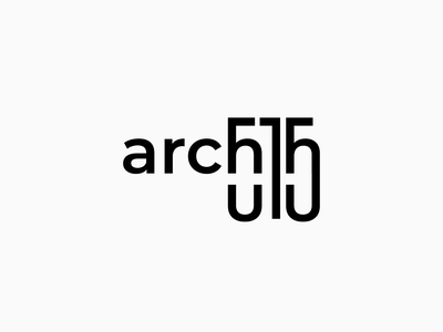 Arch 515 mark branding and identity branding logodesign minimal typography typo dark logo