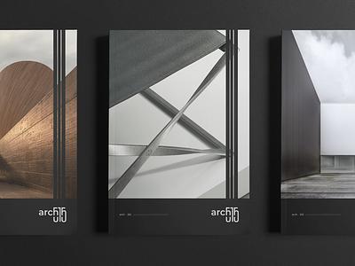 Arch 515 _2 brochure catalog print branding and identity typo sygnet minimal dark branding logo