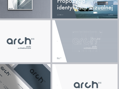 Arch _515 / b1 grey idenity identity branding branding logotype mark minimal logo architecture brandbook