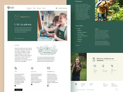 Las Academy - homepage proposal ux ui web webdesign learning education green logo website school las academy