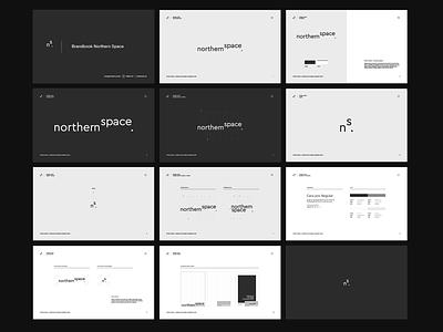 Northern Space - brandbook studio branding logotype dark minimal sygnet architecture logo brandbook