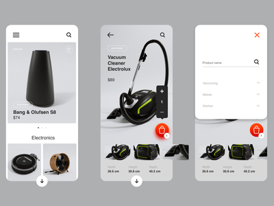 Mobile App e-commerce ui e-commerce app design iphone product products search electronic shop ecommerce mobile