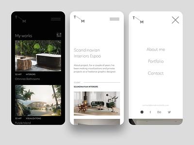 TM - rwd mobile ui architecture typography website minimal dark ux web voila rwd