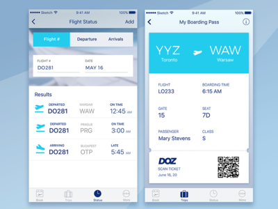 Airline ui concept graphic design ui app seats ticket book boarding pass plane airline flight