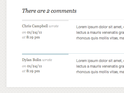 Db comments