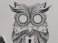the owl// artwork