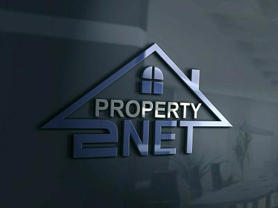 Property 2 Net 2 logo design branding graphic design vector logotype logo mark logo designer logo design logo illustrator brand identity