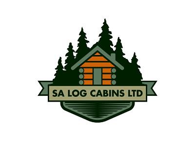 SA Log Cabins LTD logo design branding vector graphic design logotype logo mark logo designer logo logo design illustrator brand identity