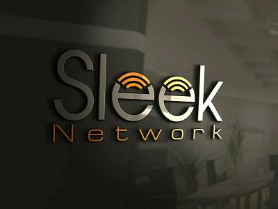 Sleek Network logo design branding graphic design vector logo logotype logo mark logo designer logo design illustrator brand identity