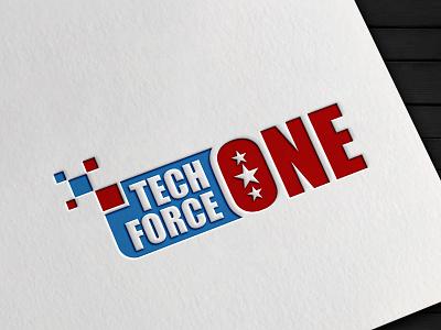 TechForceOne logo design branding graphic design vector logotype logo mark logo designer logo design logo illustrator brand identity