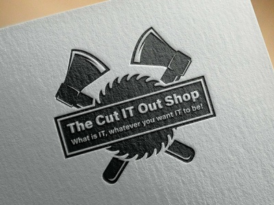The Cut IT Out Shop logo design branding graphic design vector logotype logo mark logo logo designer logo design illustrator brand identity